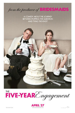 """Poster art for """"The Five-Year Engagement."""""""