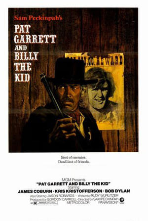 "Poster art for ""Pat Garrett and Billy the Kid."""