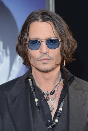 "Johnny Depp at the California premiere of ""Dark Shadows."""