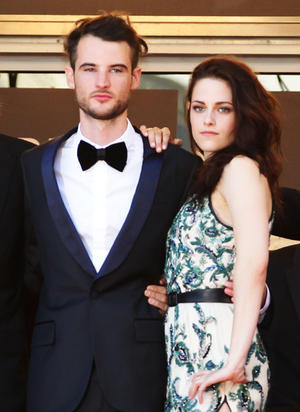 """Tom Sturridge and Kristen Stewart at the premiere of """"On the Road"""" during the 65th Annual Cannes Film Festival in France."""