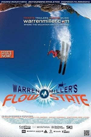"Poster art for ""Warren Miller's Flow State."""