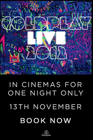 "Poster art for ""Coldplay Live 2012."""