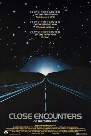 "Poster art for ""Close Encounters of the Third Kind."""