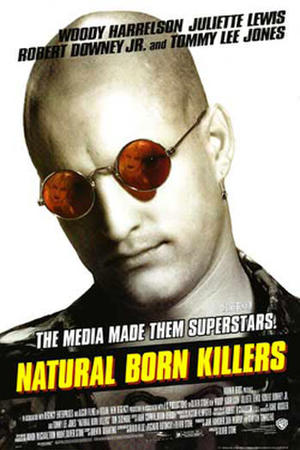 "Poster art for ""Natural Born Killers."""