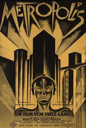 "Poster art for ""Metropolis."""