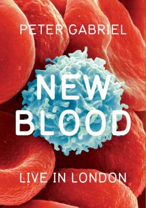 "Poster art for ""Peter Gabriel: New Blood Live."""