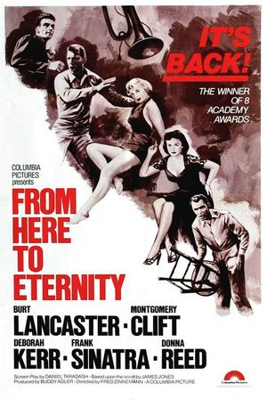 """Poster art for """"From Here to Eternity."""""""