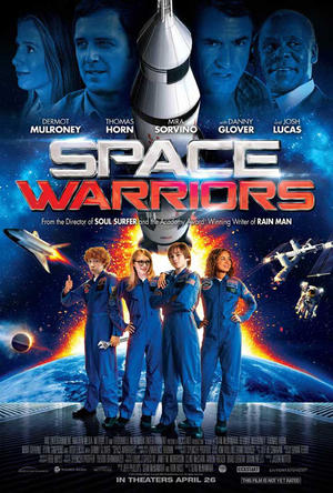 """Poster art for """"Space Warriors."""""""