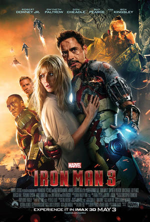 "Poster art for ""Iron Man 3: An IMAX 3D Experience."""
