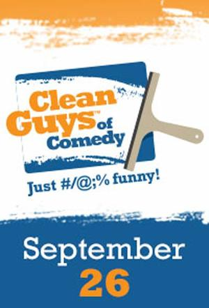 "Poster art for ""Clean Guys of Comedy Encore."""