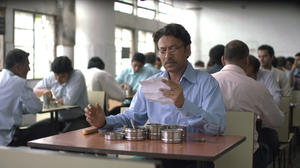 "Irrfan Khan as Saajan in ""The Lunchbox."""