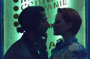 "Shia Labeouf as Charlie Countryman and Evan Rachel Wood as Gabi Banyai in ""Charlie Countryman."""