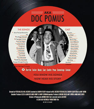 "Poster art for ""A.K.A. Doc Pomus."""