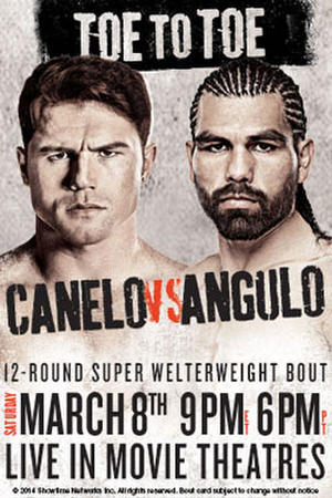 """Poster for """"Toe to Toe: Canelo vs Angulo"""""""