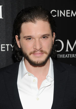 "Kit Harington at the New York premiere of ""Pompeii."""