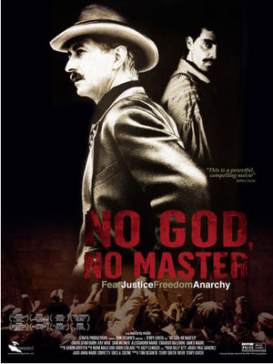 "Poster art for ""No God, No Master."""