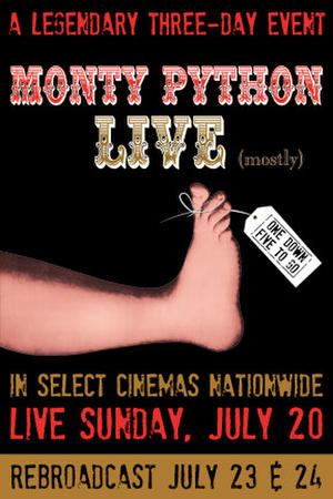 "Poster art for ""Monty Python Live (Mostly)."""