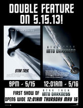Star Trek Double Feature showtimes and tickets