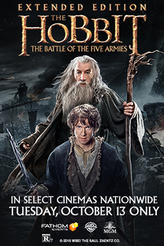 The Hobbit: The Battle of the Five Armies Extended Edition showtimes and tickets