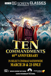 Ten Commandments (1956) presented by TCM showtimes and tickets
