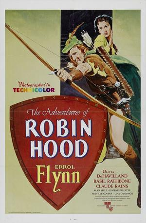"Poster art for ""The Adventures of Robin Hood."""