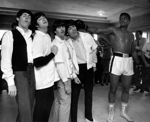 The Beatles and Muhammad Ali in HARRY BENSON: SHOOT FIRST, a Magnolia Pictures release. Photo courtesy of Magnolia Pictures.