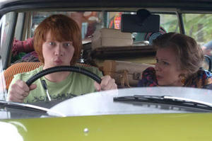 "Rupert Grint and Julie Walters in ""Driving Lessons."""