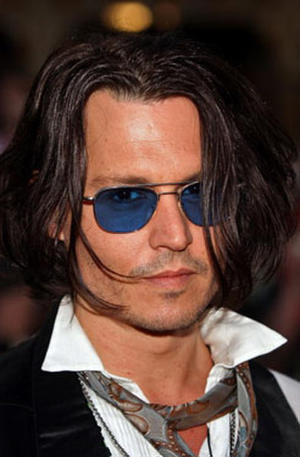 """""""Pirates of the Caribbean: At World's End"""" star Johnny Depp at the Anaheim premiere."""