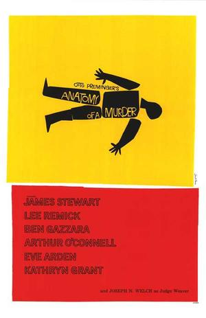 "Poster art for ""Anatomy of a Murder."""