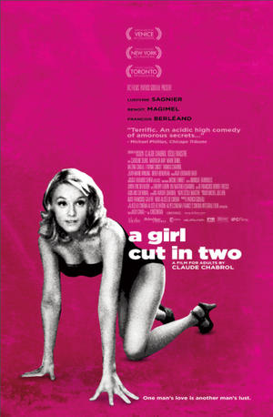 "Poster art for ""A Girl Cut in Two."""