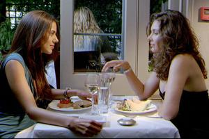 "Sheetal Sheth and Lisa Ray in ""I Can't Think Straight."""