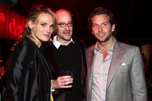 "Molly Sims, Director Peyton Reed and Bradley Cooper at the after party of the California premiere of ""Yes Man."""
