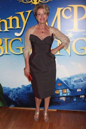 "Emma Thompson at the London premiere of ""Nanny McPhee and the Big Bang."""
