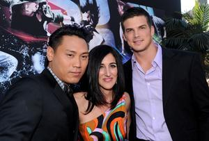 "Director Jon M. Chu, producer Jennifer Gibgot and Rick Malambri at the California premiere of ""Step Up 3."""