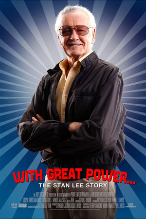 """Poster art for """"With Great Power: The Stan Lee Story"""""""