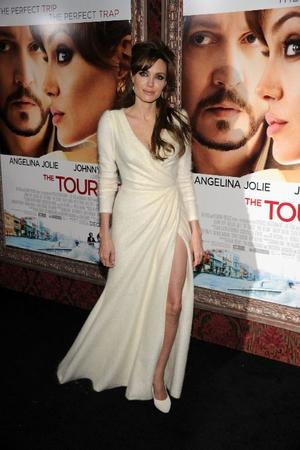 "Angelina Jolie at the world premiere of ""The Tourist."""