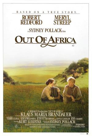 """Poster art for """"Out of Africa."""""""