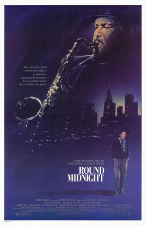 "Poster art for ""Round Midnight."""