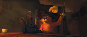 "Puss In Boots voiced by Antonio Banderas in ""Puss in Boots."""