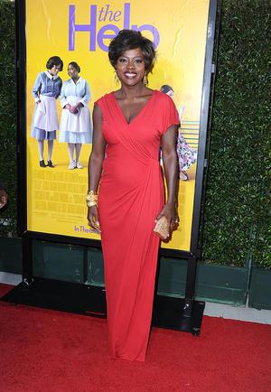 "Viola Davis at the California premiere of ""The Help."""