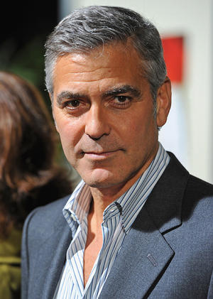 "George Clooney at the California premiere of ""The Descendants."""