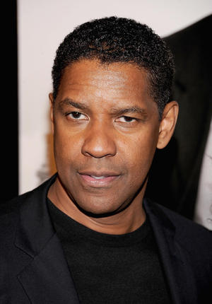 "Denzel Washington at the New York premiere of ""Safe House."""