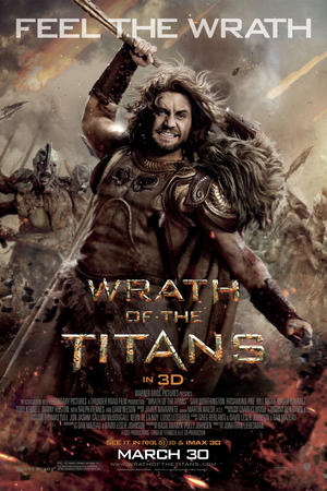 "Poster art for ""Wrath of the Titans 3D."""