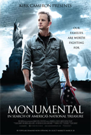 "Poster art for ""Monumental: In Search of America's National Treasure."""