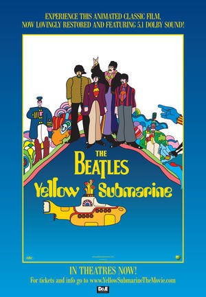 "Poster art for ""Yellow Submarine."""