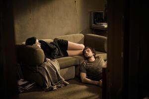 """Catherine de Lean as Clara and Dimitri Storoge as Nikolai in """"Nuit #1."""""""