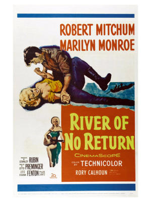 "Poster art for ""River of No Return."""