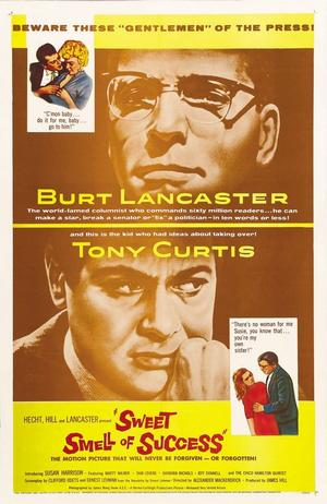 "Poster art for ""The Sweet Smell of Success."""