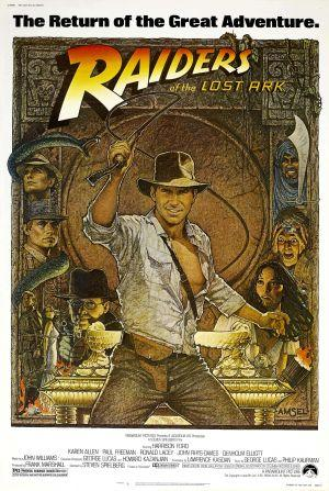 "Poster art for ""Raiders of the Lost Ark."""