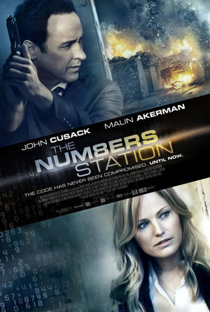 "Poster art for ""The Numbers Station."""